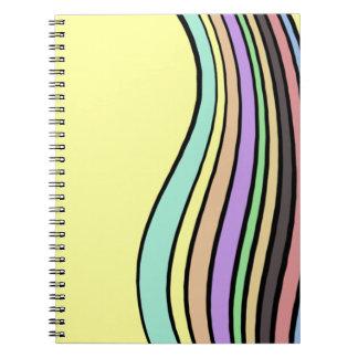rayas onduladas del arco iris libro de apuntes con espiral