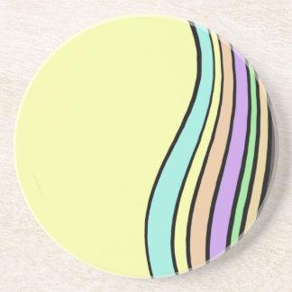 rayas onduladas del arco iris posavasos personalizados
