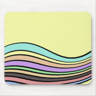 rayas onduladas del arco iris tapetes de ratones
