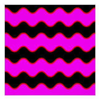 Rayas onduladas del zigzag de Chevron Perfect Poster