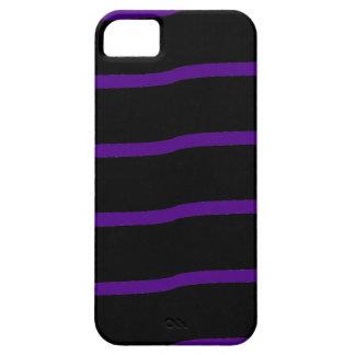 Rayas onduladas negras y púrpuras iPhone 5 cobertura