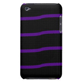 Rayas onduladas negras y púrpuras iPod touch cárcasas