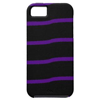 Rayas onduladas negras y púrpuras iPhone 5 Case-Mate cárcasas