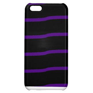 Rayas onduladas negras y púrpuras