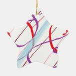 rayas ornamento para arbol de navidad