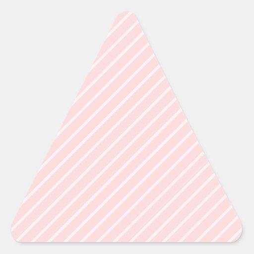 Rayas pálidas de la diagonal del rosa del pegatina triangular