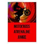Rayas pálidas del motocrós en un Windtunnel Felicitaciones