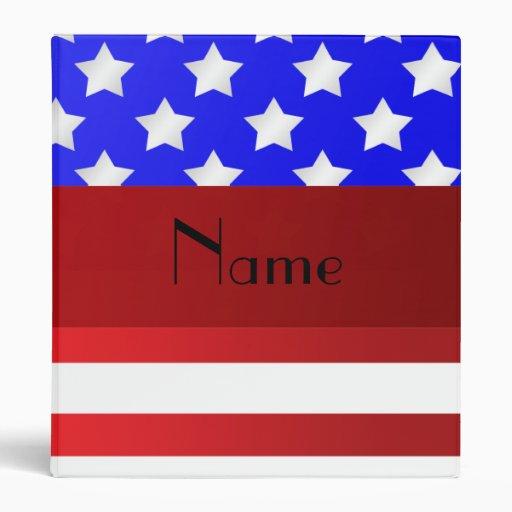 Rayas patrióticas conocidas personalizadas