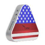 Rayas patrióticas conocidas personalizadas altavoz