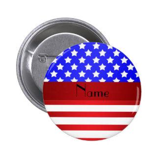 Rayas patrióticas conocidas personalizadas pin