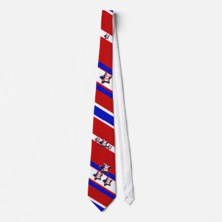 Rayas patrióticas corbata personalizada