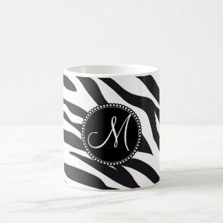 Rayas personalizadas personalizado de la cebra de taza de café
