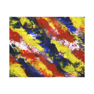Rayas pintadas azul amarillo rojo brillante de la  impresion en lona