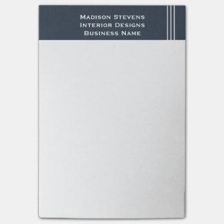 Rayas profesionales en notas azules del Poste-it® Post-it Notas