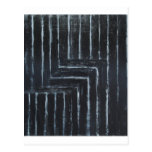 Rayas puestas (minimalism negro) postal