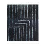 Rayas puestas (minimalism negro) tarjetas postales