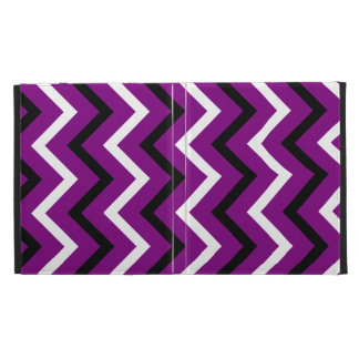Rayas púrpuras blancos y negros de Chevron zigza