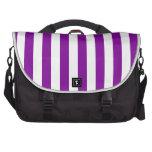 Rayas púrpuras bolsas de ordenador