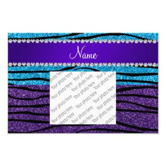 Rayas púrpuras conocidas de encargo de la cebra cojinete