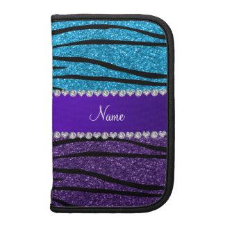 Rayas púrpuras conocidas de encargo de la cebra planificadores