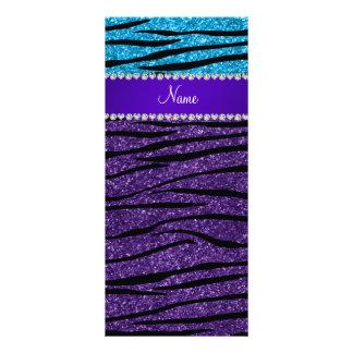Rayas púrpuras conocidas de encargo de la cebra plantilla de lona