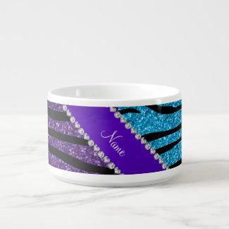 Rayas púrpuras conocidas de encargo de la cebra tazón