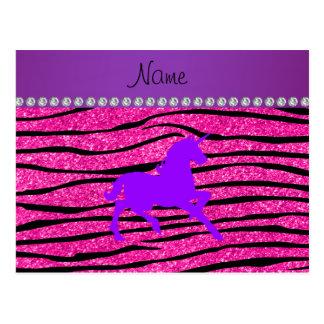 Rayas púrpuras conocidas de la cebra del brillo de postal