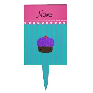 Rayas púrpuras conocidas personalizadas de la figuras para tartas