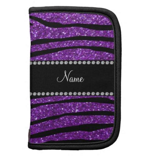 Rayas púrpuras conocidas personalizadas de la cebr planificador