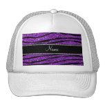 Rayas púrpuras conocidas personalizadas de la cebr gorras