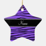 Rayas púrpuras conocidas personalizadas de la adornos