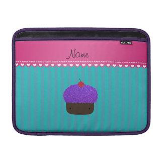 Rayas púrpuras conocidas personalizadas de la funda macbook air