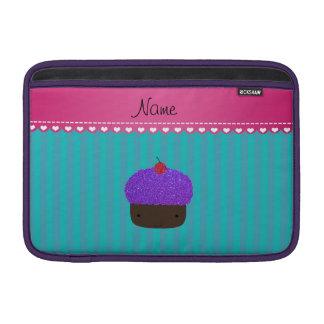 Rayas púrpuras conocidas personalizadas de la fundas macbook air