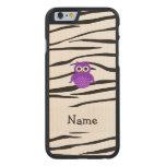 Rayas púrpuras conocidas personalizadas de la funda de iPhone 6 carved® de arce
