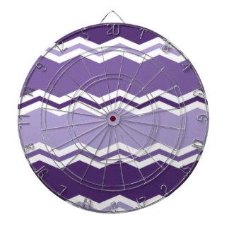 Rayas púrpuras de Chevron de la lavanda oscura y l