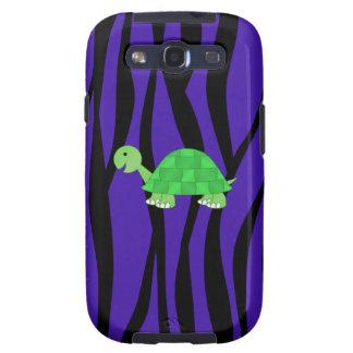 Rayas púrpuras de la cebra de la tortuga linda galaxy SIII coberturas