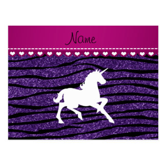 Rayas púrpuras de la cebra del brillo del postal