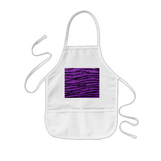 Rayas púrpuras de la cebra del brillo delantal infantil