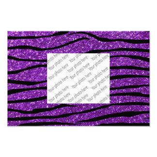 Rayas púrpuras de la cebra del brillo fotografías