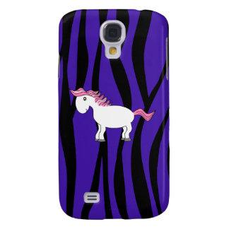 Rayas púrpuras de la cebra del caballo lindo