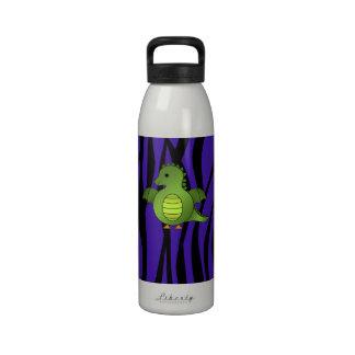 Rayas púrpuras de la cebra del dragón del bebé botella de beber