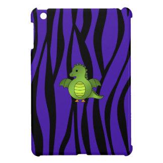 Rayas púrpuras de la cebra del dragón del bebé iPad mini protector