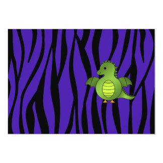 Rayas púrpuras de la cebra del dragón del bebé comunicado personal