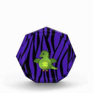 Rayas púrpuras de la cebra del dragón del bebé