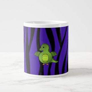 Rayas púrpuras de la cebra del dragón del bebé tazas extra grande