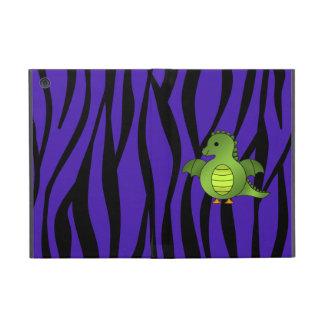 Rayas púrpuras de la cebra del dragón lindo del be iPad mini carcasas