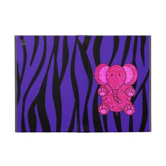 Rayas púrpuras de la cebra del elefante rosado del iPad mini coberturas