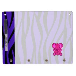 Rayas púrpuras de la cebra del elefante rosado del pizarras