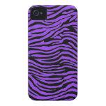 rayas púrpuras de la cebra iPhone 4 Case-Mate coberturas