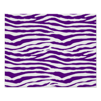 Rayas púrpuras de la cebra póster